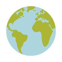 Isolated World Sphere Vector D...
