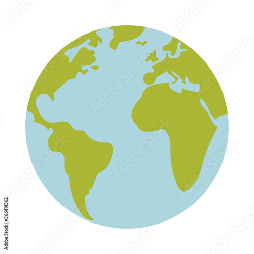 Obraz na plátně Isolated world sphere vector design