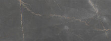 Grey Marble Surface With Brown...