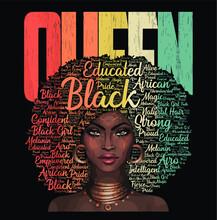 African American Queen Vintage...