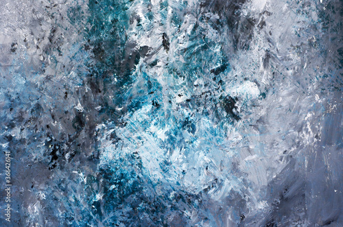 Colorful silver grey and blue abstract background Canvas