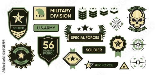Fotografia, Obraz Army patches set