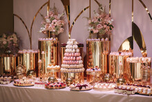 Luxury Candy Bar On Golden Wed...