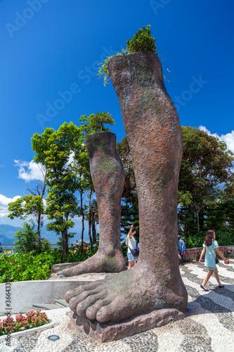 :The Golden Bridge  tourist resort on Ba Na Hill in Danang, Vietnam.