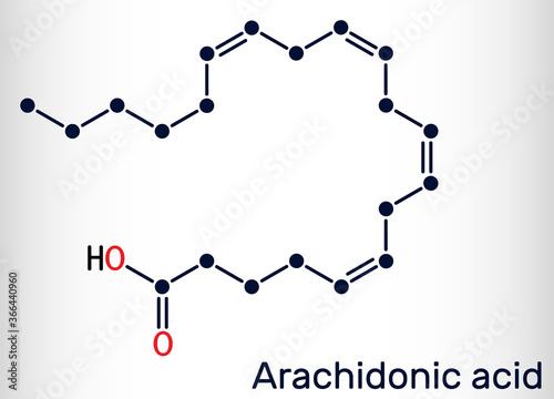 Arachidonic acid, AA, ARA molecule Wallpaper Mural