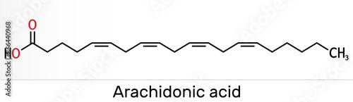 Photo Arachidonic acid, AA, ARA molecule