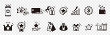 Loyalty Program Vector Icons Set