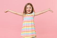 Happy Little Fun Female Kid Gi...