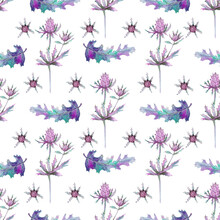 Seamless Pattern With Wild Thi...