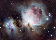 The Orion Nebula (also Known As Messier 42, M42, Or NGC 1976) Is A Diffuse Nebula Situated In The Milky Way, Being South Of Orion's Belt In The Constellation Of Orion.