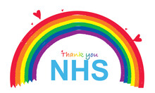Thank You NHS RAINBOW Vector Illustration