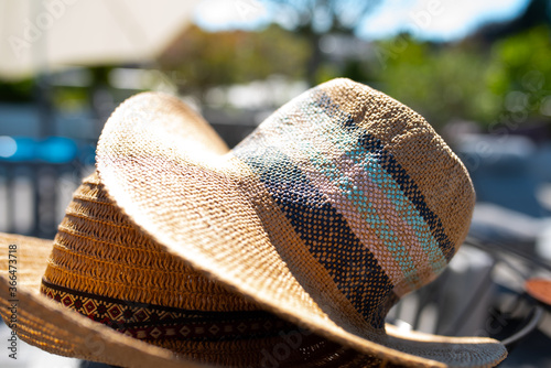 Foto Straw hat for sun protection  Handmade straw hat for sun protection