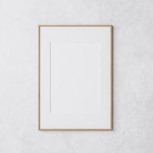 Wooden Vertical Frame Mockup O...