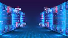 Server Room And Big Data Proce...