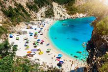 Der Kleine Strand Von Agiofili...