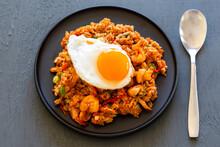 Nasi Goreng With Fried Egg And Shrimp