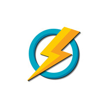 Simple Electrical Logo Design Illlustration