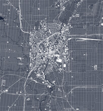 Map Of The City Of San Antonio...