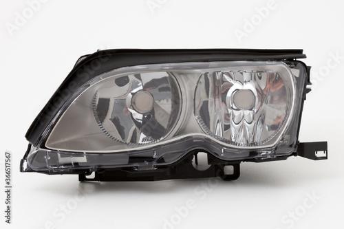 Obraz car spare part headlights on white background - fototapety do salonu