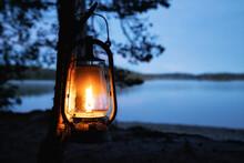 Vintage Old Kerosene Lamp Hang...