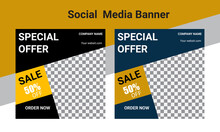 Sale Social Media Post Or Banner Template