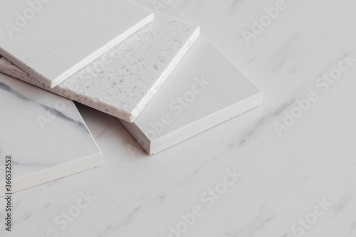 Various stone samples on light background Fototapet