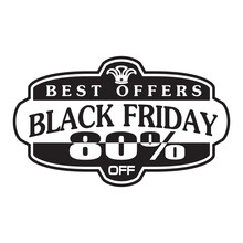 Black Friday Banners Sale Black And White Vector