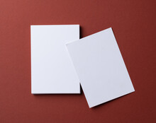 Blank White Business Cards On ...