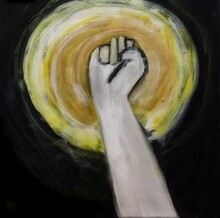 Fist On The Sky, Colors Painting Picture