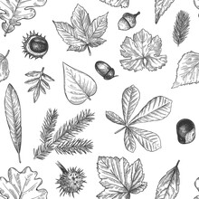 Autumn Leaves Seamless Pattern...