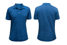 Isolated Blue Blank Polo T-shirt