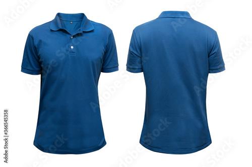Obraz na płótnie Isolated blue blank polo t-shirt