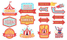 Circus Labels. Carnival And Ci...