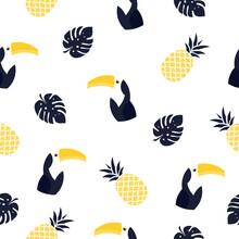 Seamless Pattern Toucan Illust...