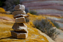 An Abstract Image Of Stones St...