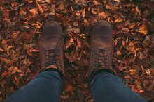A Photo Of A Persons Boots As ...