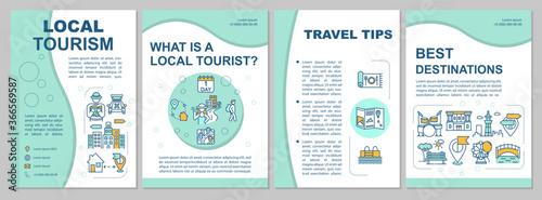 Fotografia, Obraz Local tourism brochure template