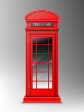 Vintage Red Telephone Booth, C...