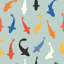 Fish Seamless Pattern, Vector ...