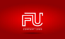 FU Logo Initial Letter Design Template Vector