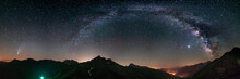 Milky Way Arc And Stars In Nig...