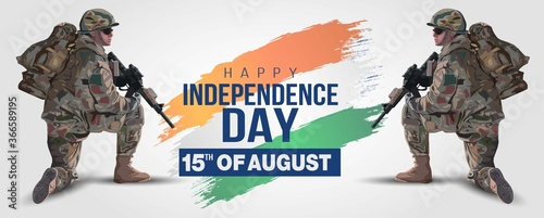 Photo illustration of 15th of august background for Happy Independence Day of India