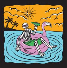 Just Chilling Skull Vector Illustration
