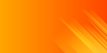 Abstract Yellow And Orange Warm Tone Background With Simply Curve Lines Lighting Element Vector For Presentation Design