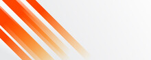 Abstract Bright Soft Design Background With Orange Wavy Curved Lines In Dynamic Smooth Style Vector Illustration For Wide Banner