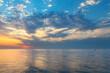 Beautiful sunset over the Caspian Sea