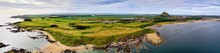 Aerial Panorama Of A Golf Cour...