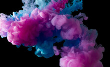 Colorful Paint Smoke On Abstra...