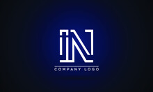 IN Or NI Logo Initial Letter ...