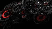 Mechanism Black-red Gears And ...
